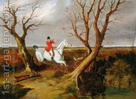 The Suffolk Hunt - Gone Away by John Frederick Herring Snr - Reproduction Oil Painting