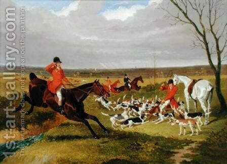The Suffolk Hunt - The Death by John Frederick Herring Snr - Reproduction Oil Painting