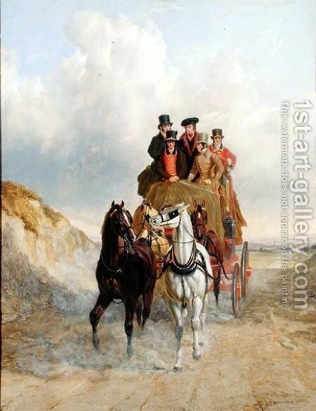 The Royal Mail Coach on the Road, 1841 by John Frederick Herring Snr - Reproduction Oil Painting