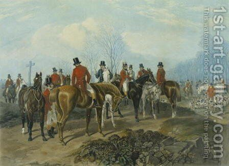 The Meet, engraved by Huffman and Mackrill by John Frederick Herring Snr - Reproduction Oil Painting