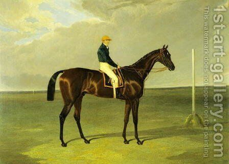 'Sluggard' with Flatman Up, 1832 by John Frederick Herring Snr - Reproduction Oil Painting