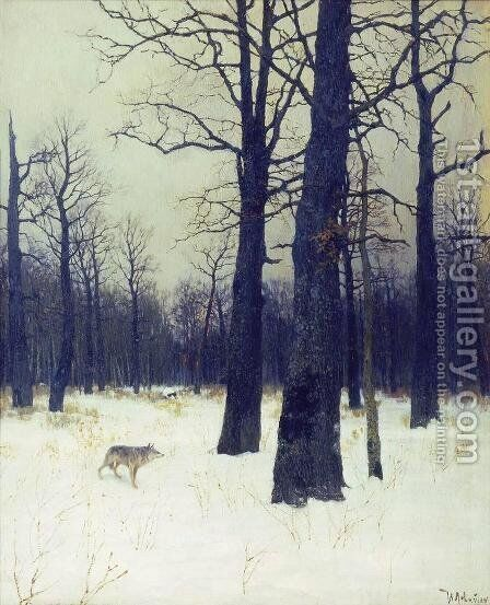 Wood in Winter, 1885 by Isaak Ilyich Levitan - Reproduction Oil Painting