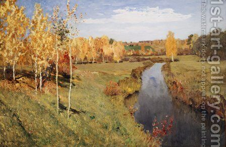 Golden Autumn, 1895 by Isaak Ilyich Levitan - Reproduction Oil Painting