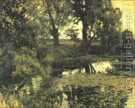 The Overgrown Pond, 1887 by Isaak Ilyich Levitan - Reproduction Oil Painting