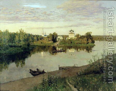 The Evening Bell Tolls, 1892 by Isaak Ilyich Levitan - Reproduction Oil Painting