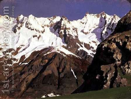 Mont Blanc Mountains, 1897 by Isaak Ilyich Levitan - Reproduction Oil Painting