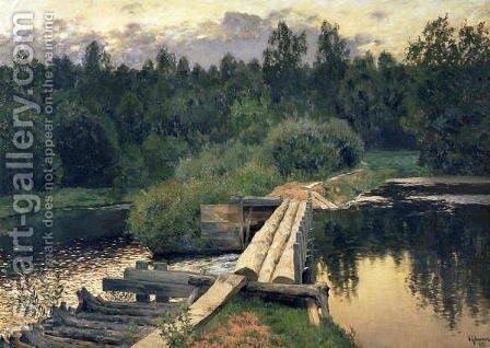 At the Shallow, 1892 by Isaak Ilyich Levitan - Reproduction Oil Painting