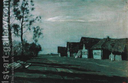 Village by Moonlight, 1897 by Isaak Ilyich Levitan - Reproduction Oil Painting