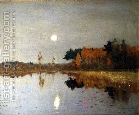 The Twilight Moon, 1899 by Isaak Ilyich Levitan - Reproduction Oil Painting