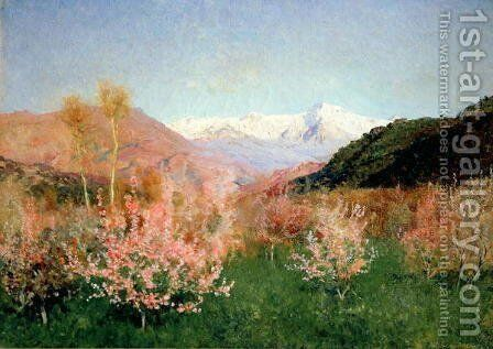 Spring in Italy, 1890 by Isaak Ilyich Levitan - Reproduction Oil Painting