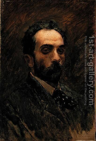 Self Portrait, 1890s by Isaak Ilyich Levitan - Reproduction Oil Painting