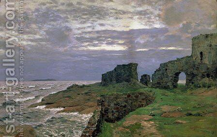 Remains of Bygone Days, Twilight, Finland, 1897 by Isaak Ilyich Levitan - Reproduction Oil Painting
