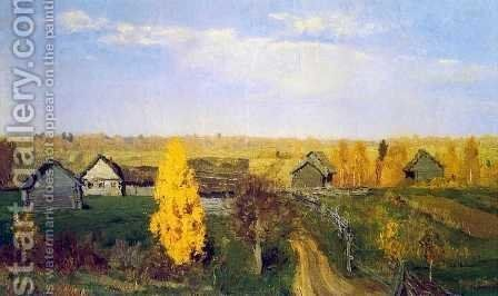 Golden Autumn in the Village, 1889 by Isaak Ilyich Levitan - Reproduction Oil Painting