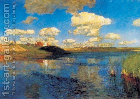 Lake,  Russia, 1900 (unfinished) by Isaak Ilyich Levitan - Reproduction Oil Painting