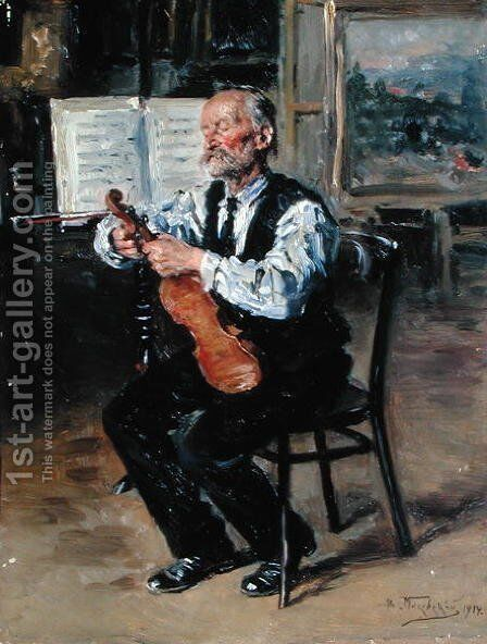 A Violin Maker, 1914 by Vladimir Egorovic Makovsky - Reproduction Oil Painting