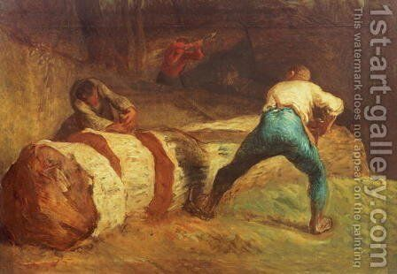 The Wood Sawyers, 1848 by Jean-Francois Millet - Reproduction Oil Painting