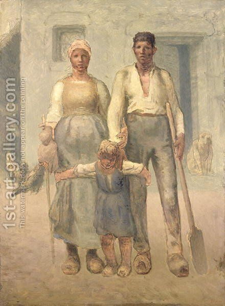 The Peasant Family, 1871-72 by Jean-Francois Millet - Reproduction Oil Painting
