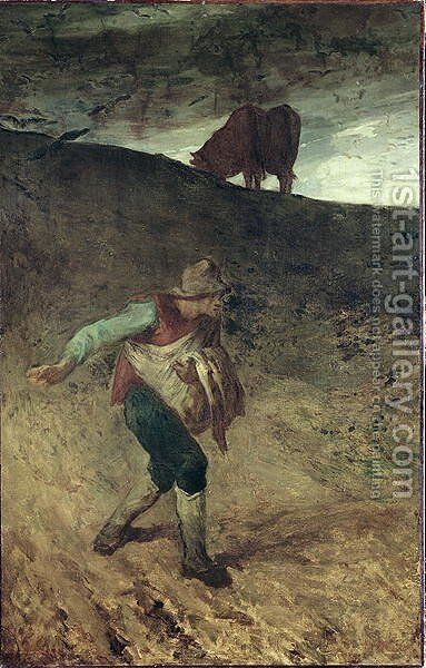 The Sower, 1847-48 by Jean-Francois Millet - Reproduction Oil Painting