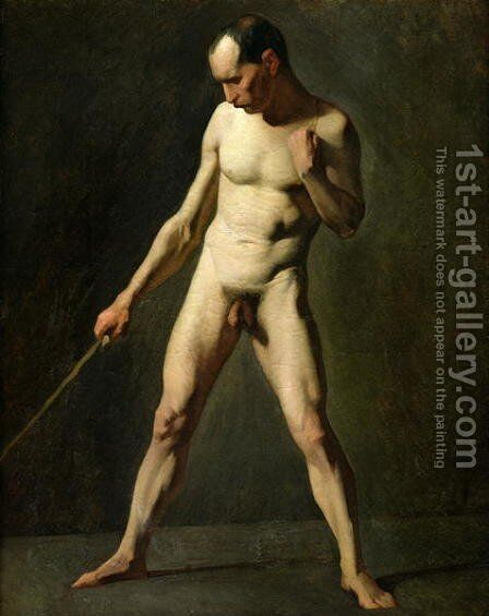 Nude Study by Jean-Francois Millet - Reproduction Oil Painting