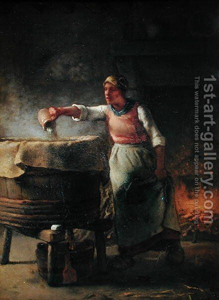 The Boiler, 1853-54 by Jean-Francois Millet - Reproduction Oil Painting
