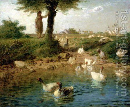 The Goosegirl, c.1866 by Jean-Francois Millet - Reproduction Oil Painting