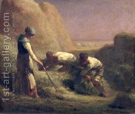The Hay Trussers, 1850-51 by Jean-Francois Millet - Reproduction Oil Painting