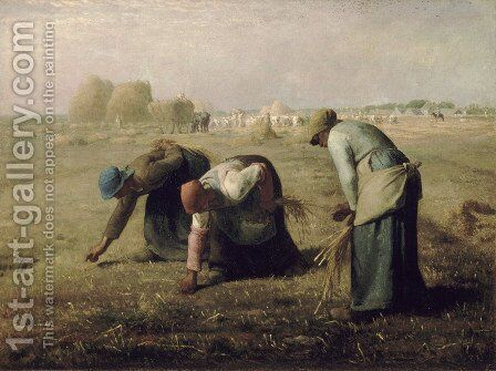The Gleaners, 1857 by Jean-Francois Millet - Reproduction Oil Painting