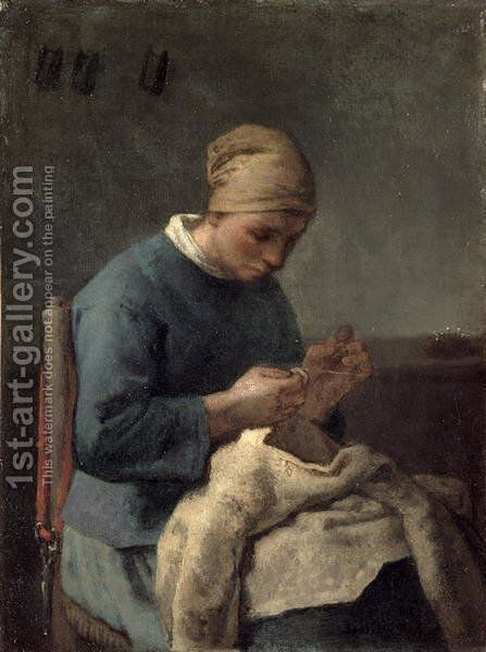 The Seamstress by Jean-Francois Millet - Reproduction Oil Painting