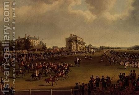 The Start of the St. Leger, 1830 by James Pollard - Reproduction Oil Painting