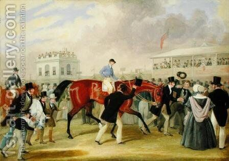 The Derby Pets- The Winner, 1842 by James Pollard - Reproduction Oil Painting