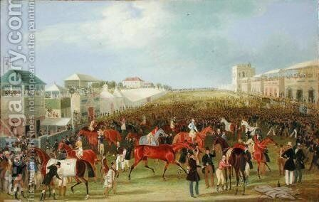 Epsom Races- The Race Over by James Pollard - Reproduction Oil Painting