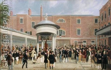 Epsom Races: Settling Day at Tattersall's by James Pollard - Reproduction Oil Painting