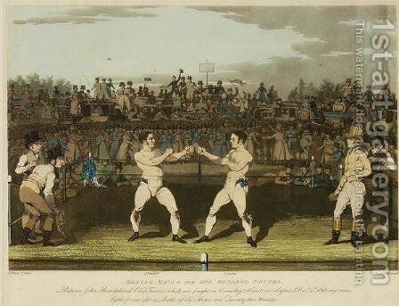 Boxing Match for One Hundred Pounds by James Pollard - Reproduction Oil Painting