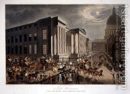The Royal Mails Starting from the General Post Office, London by James Pollard - Reproduction Oil Painting
