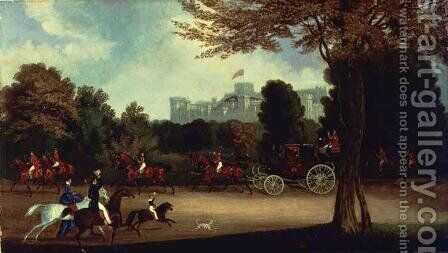 William IV driving in Windsor Park by James Pollard - Reproduction Oil Painting