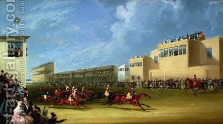 The Ascot Gold Cup, 1834 by James Pollard - Reproduction Oil Painting