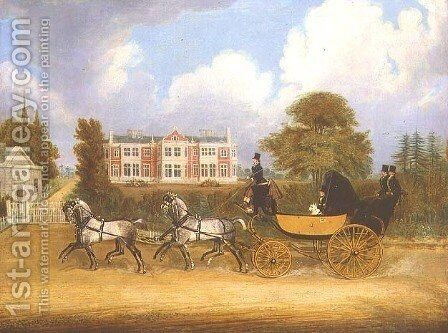 A Barouche drawn by James Pollard - Reproduction Oil Painting