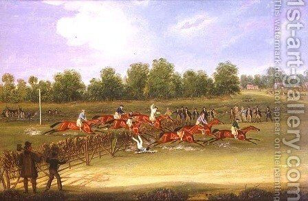 St Albans Tally-Ho Stakes, May 22nd 1834 by James Pollard - Reproduction Oil Painting