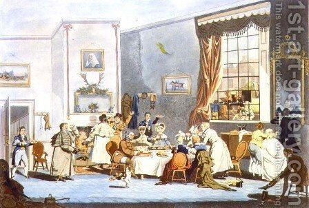 Stage Coach Passengers at Breakfast by James Pollard - Reproduction Oil Painting