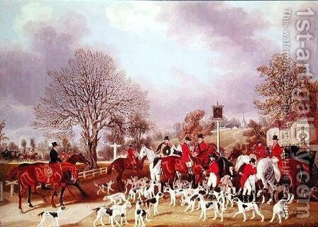The Hertfordshire Hunt by James Pollard - Reproduction Oil Painting