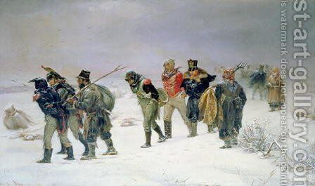 In the Year of 1812, 1874 by Illarion Mikhailovich Prianishnikov - Reproduction Oil Painting