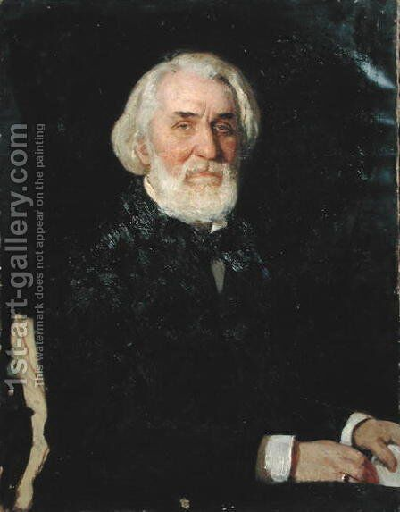 Portrait of Ivan S. Turgenev (1818-83), 1879 by Ilya Efimovich Efimovich Repin - Reproduction Oil Painting
