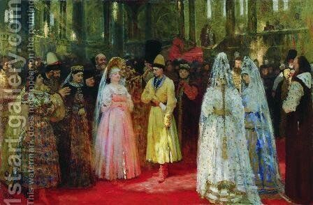 The Bride choosing of the Tsar, c.1886 by Ilya Efimovich Efimovich Repin - Reproduction Oil Painting