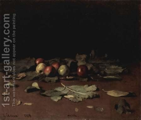 Apples and Leaves 1879 by Ilya Efimovich Efimovich Repin - Reproduction Oil Painting