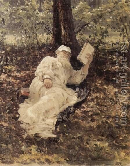 Portrait of Lev Tolstoy 1893 by Ilya Efimovich Efimovich Repin - Reproduction Oil Painting