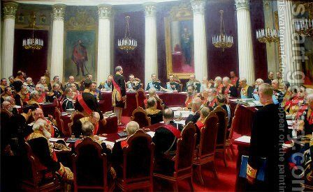 Ceremonial session of the State Council 1900 by Ilya Efimovich Efimovich Repin - Reproduction Oil Painting