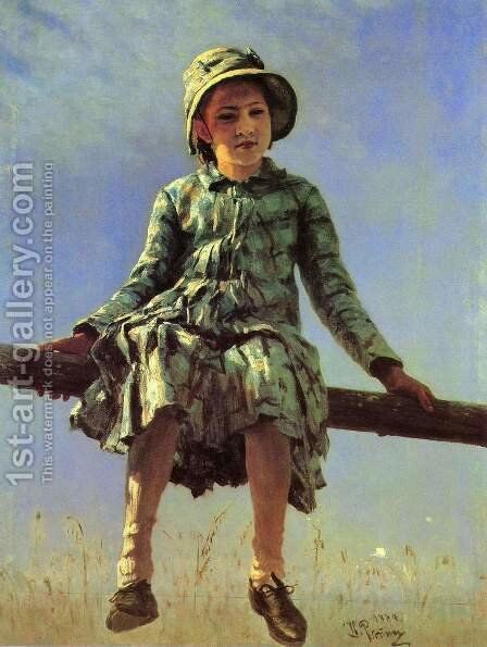 Painter's daughter by Ilya Efimovich Efimovich Repin - Reproduction Oil Painting