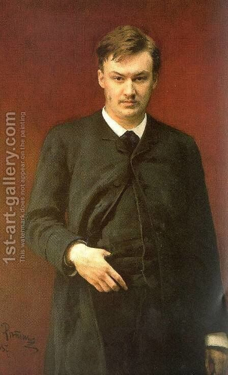 Portrait of the composer Alexander Konstantinovich Glazunov (1865-1936) 1887 by Ilya Efimovich Efimovich Repin - Reproduction Oil Painting