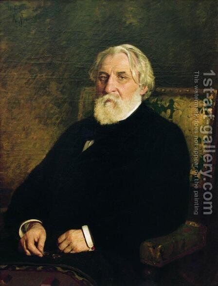 Portrait of Ivan Sergeevich Turgenev (1818-83) by Ilya Efimovich Efimovich Repin - Reproduction Oil Painting