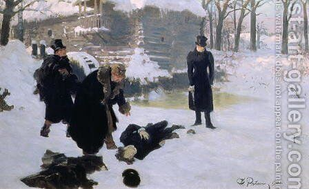 The Duel, 1901 by Ilya Efimovich Efimovich Repin - Reproduction Oil Painting